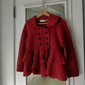 Anthropologie Charlie & Robin Berry Wool Sweater